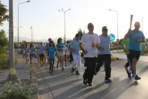 18-9-2015, Κολυμβητική Ενωση Κοζάνης, 13η Πανελλήνια Λαμπαδηδρομία Εθελοντών Αιμοδοτών