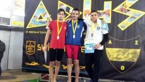 6-2-2016, Αρήστεια 2016, 200μ Υπτιο Ανδρών, 1η θέση Θόδωρος Ρουσόπουλος (Κ.Ε. Κοζάνης), 2:10.79.