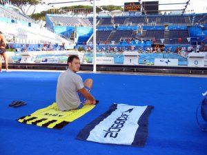 Ο Δημήτρης Ξυνάδας στο 13ο Παγκόσμιο Πρωτάθλημα Κολύμβησης στην Ρώμη το 2009.