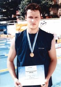 Πανελλήνιο 2002, Δημήτρης Ξυνάδας χρυσό 50μ Πρόσθιο Παίδων